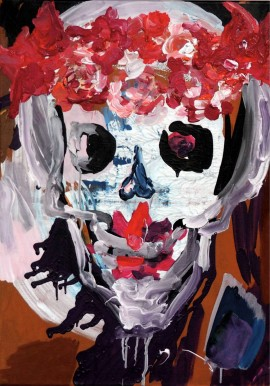 Happy skull, 2016, 70x50cm