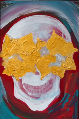 Happy skull, 2016, 60x40cm
