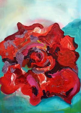 Ze série růže, 2015, 70×50cm