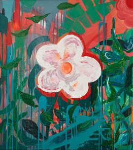 Jungle vibes III.,2017, 110×100cm