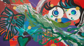I saw sparkling in your eyes, 2017, 50×100 cm