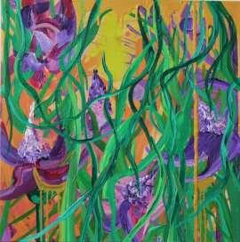 Purple Jungle, 2017, 70×70 cm
