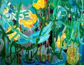 Yellow Jungle, 2017, 100×130cm