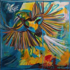 Flight to the sun, 150 x 150 cm, 2020